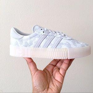 RARE Adidas SamabaRose Grey White Camo